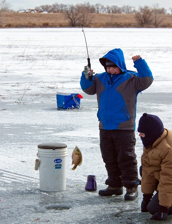 Basic Equipment Equals Fish and Fun Ice Fishing
